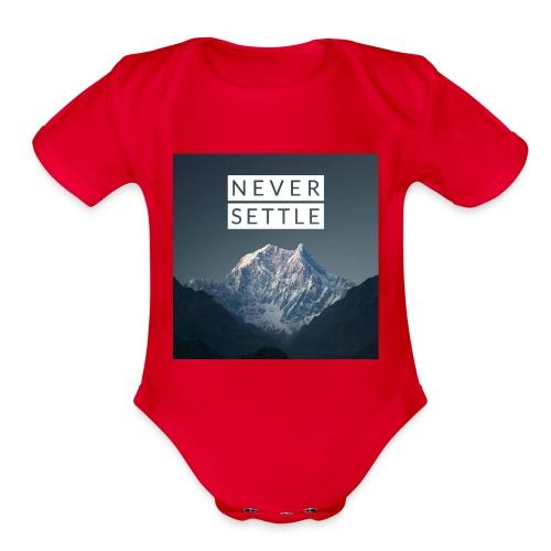 Never settle bundle - Organic Short Sleeve Baby Bodysuit