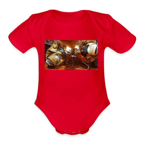 Pipeliners Down Under - Organic Short Sleeve Baby Bodysuit