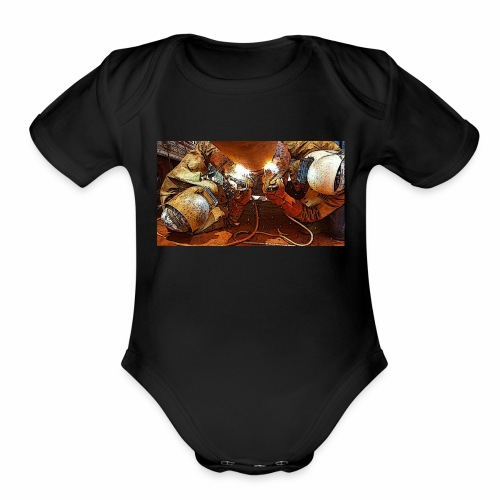 Pipeliners Down Under - Organic Short Sleeve Baby Bodysuit