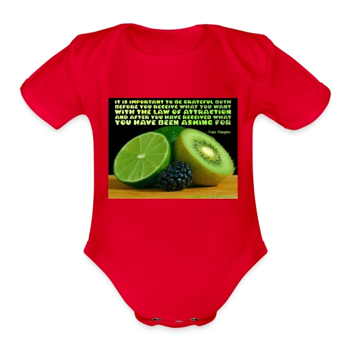 Be Grateful - Organic Short Sleeve Baby Bodysuit
