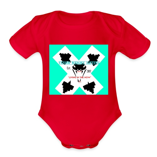 Viper head - Organic Short Sleeve Baby Bodysuit