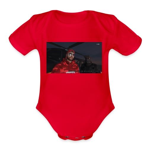 gangstars - Organic Short Sleeve Baby Bodysuit