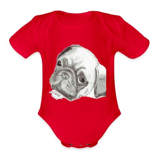Pug - Organic Short Sleeve Baby Bodysuit