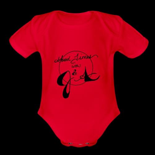 Good Times LOGO - Organic Short Sleeve Baby Bodysuit