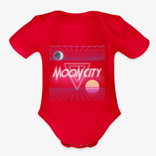 Moon City Retrogrid - Organic Short Sleeve Baby Bodysuit
