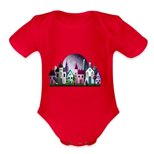 Moondale - Organic Short Sleeve Baby Bodysuit