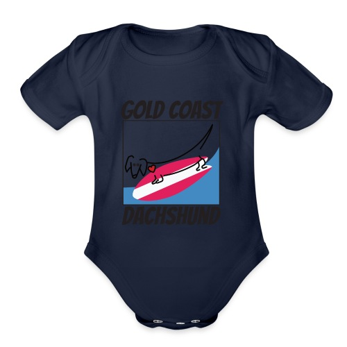 Gold Coast Dachshund - Organic Short Sleeve Baby Bodysuit