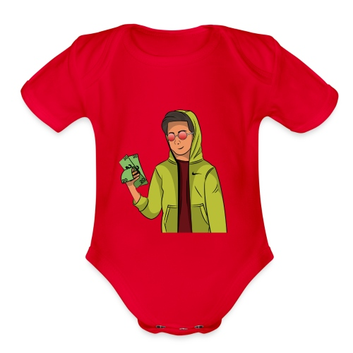 iCarriedYou Drawn Out - Organic Short Sleeve Baby Bodysuit