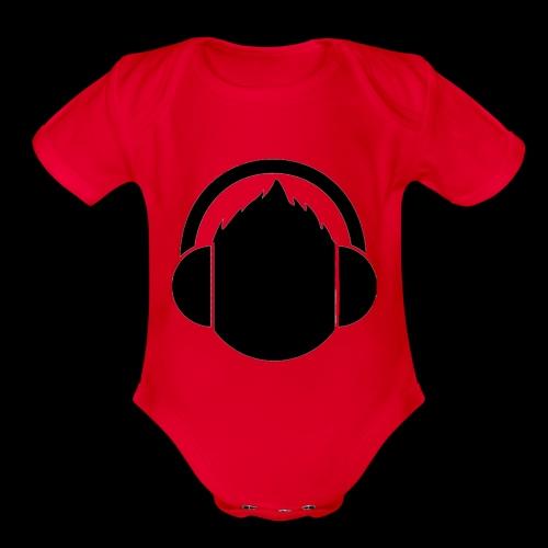 The classic Headphone guy - Organic Short Sleeve Baby Bodysuit