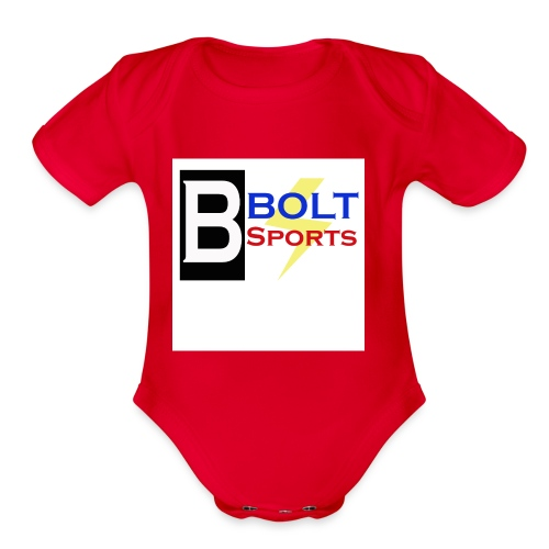 Bolt Sports 2nd Collection - Organic Short Sleeve Baby Bodysuit