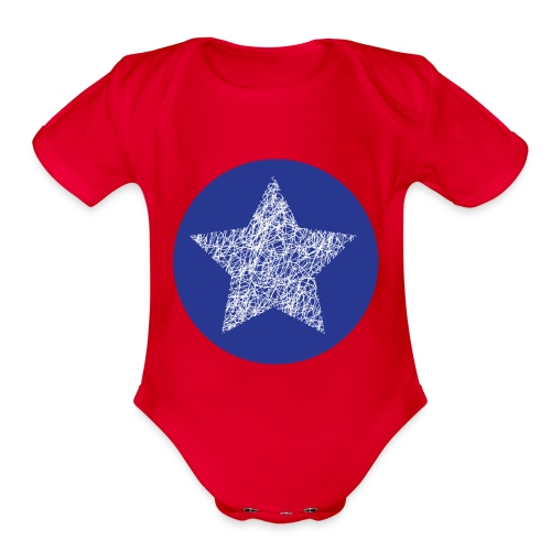 Sketchy star - Organic Short Sleeve Baby Bodysuit