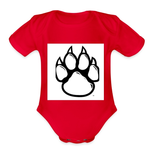 Panther Paw - Organic Short Sleeve Baby Bodysuit