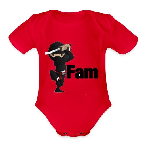 ninja shirtn - Organic Short Sleeve Baby Bodysuit