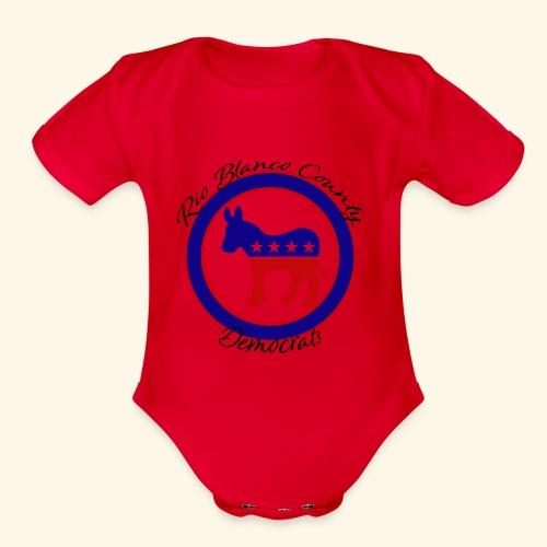 Democrats Rio Blanco County - Organic Short Sleeve Baby Bodysuit