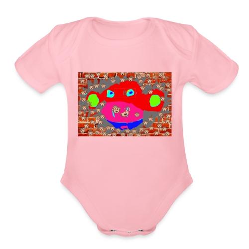 monkey by brax - Organic Short Sleeve Baby Bodysuit