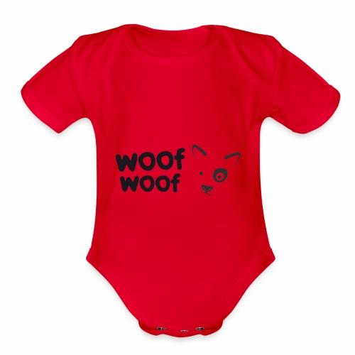 Woof Woof - Organic Short Sleeve Baby Bodysuit