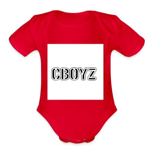 C Boyz logo - Organic Short Sleeve Baby Bodysuit