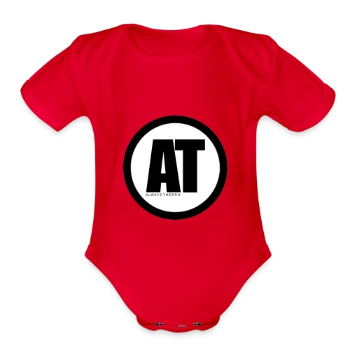 Alwayz Thero Logo - Organic Short Sleeve Baby Bodysuit