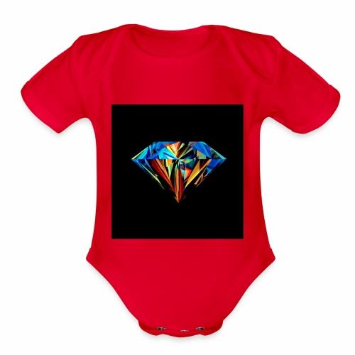 dimand - Organic Short Sleeve Baby Bodysuit