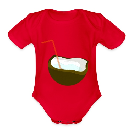 coconut water - Organic Short Sleeve Baby Bodysuit