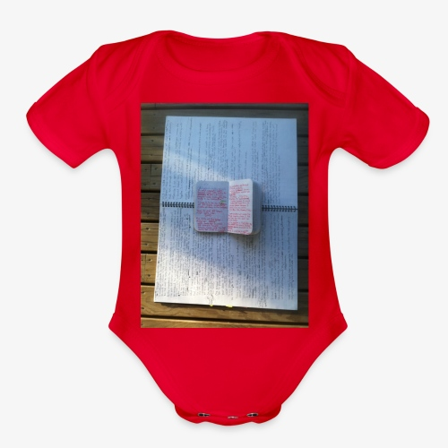 STRATA - Organic Short Sleeve Baby Bodysuit