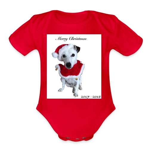 Merry Christmas 2017-2018 [LIMITED EDITION] - Organic Short Sleeve Baby Bodysuit