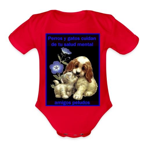 MASCOTAS Y SALUD - Organic Short Sleeve Baby Bodysuit