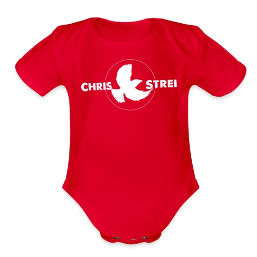 Chris Strei BlackBird Logo - Organic Short Sleeve Baby Bodysuit