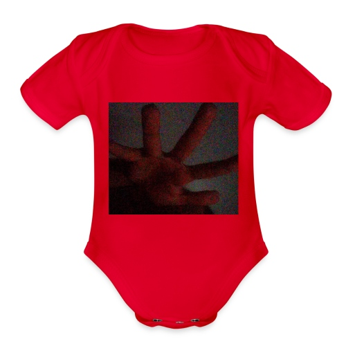 received_1632651173676868 - Organic Short Sleeve Baby Bodysuit