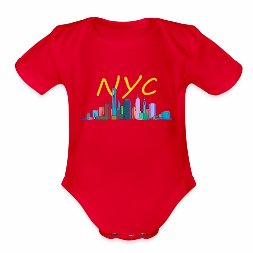 New york my love - Organic Short Sleeve Baby Bodysuit