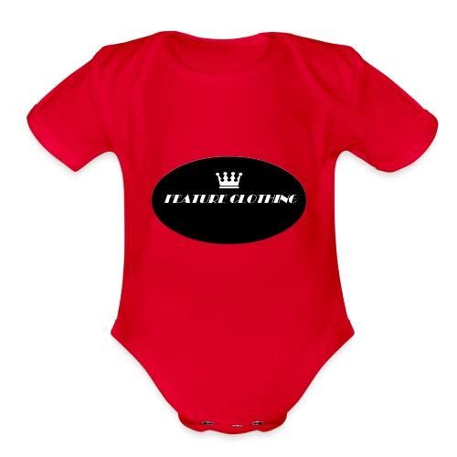 FEATURE_BRAND - Organic Short Sleeve Baby Bodysuit