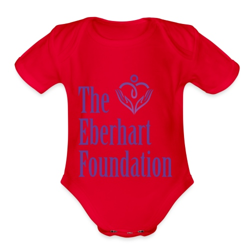 The Eberhart Foundation square logo color - Organic Short Sleeve Baby Bodysuit