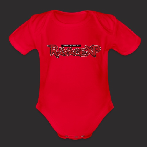 RavageXP Text - Organic Short Sleeve Baby Bodysuit
