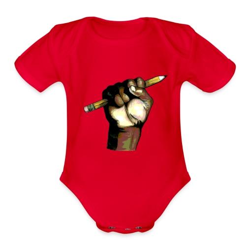 APOGPopStyletrans - Organic Short Sleeve Baby Bodysuit
