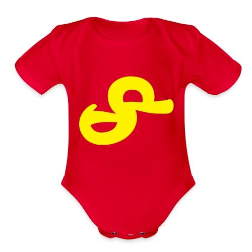 Duck - Organic Short Sleeve Baby Bodysuit