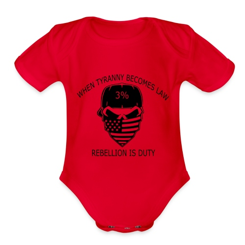 rebellion time - Organic Short Sleeve Baby Bodysuit