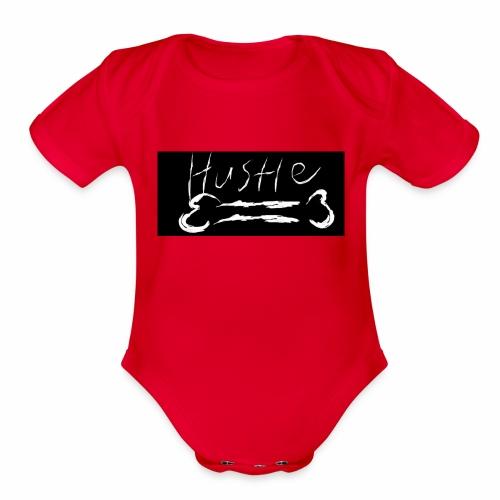 Hustle Bone Logo - Organic Short Sleeve Baby Bodysuit