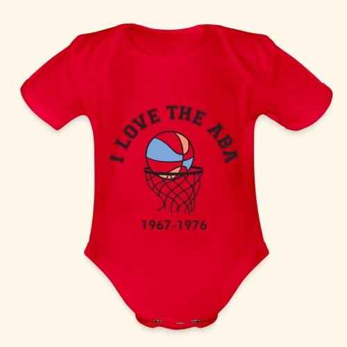 I Love the ABA - Organic Short Sleeve Baby Bodysuit