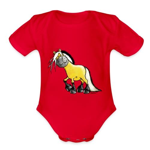 fjord_horse - Organic Short Sleeve Baby Bodysuit
