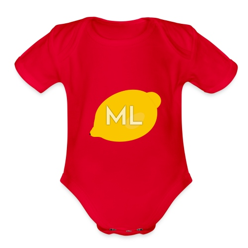 Mad Lemons Logo - Organic Short Sleeve Baby Bodysuit