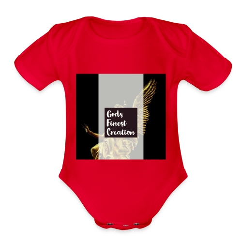 God's finest creation - Organic Short Sleeve Baby Bodysuit