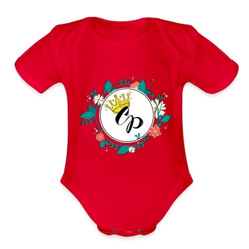 Signature CP Logo - Organic Short Sleeve Baby Bodysuit