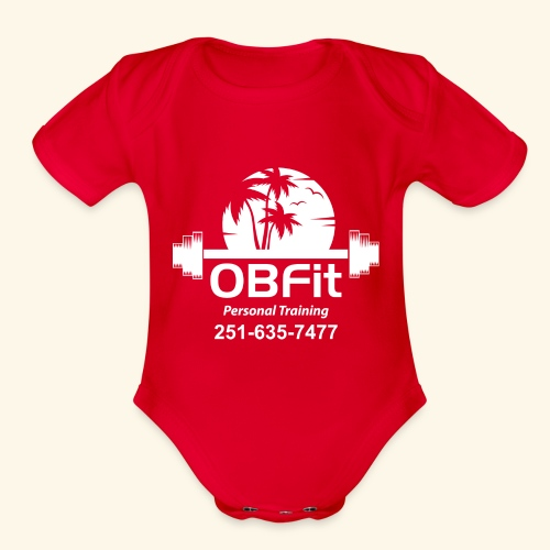 OB Fit with pn white personal training - Organic Short Sleeve Baby Bodysuit