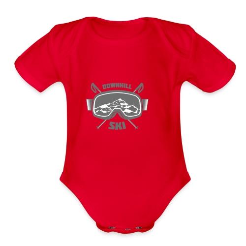 design-08 - Organic Short Sleeve Baby Bodysuit