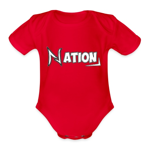 Nation Logo Design - Organic Short Sleeve Baby Bodysuit