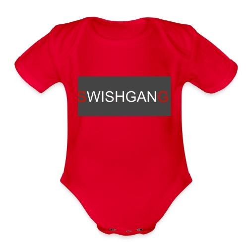 SWISHGANG2 - Organic Short Sleeve Baby Bodysuit