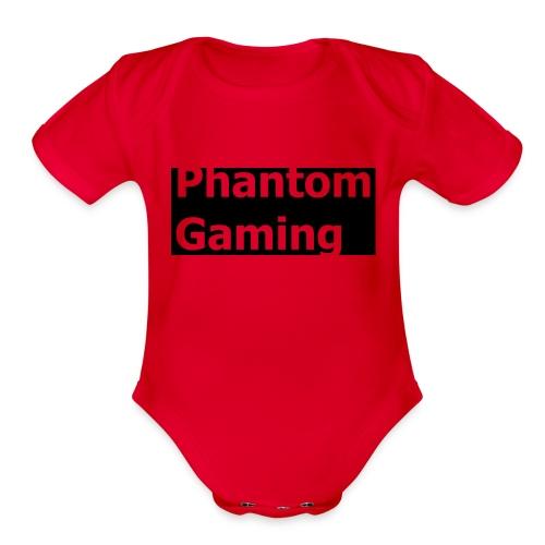 Phantom Shirt No.4 | New Logo Design - Organic Short Sleeve Baby Bodysuit