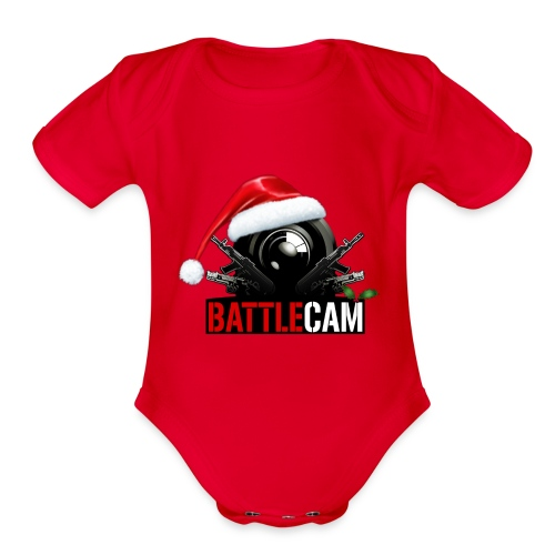 Battlecam_logo - Organic Short Sleeve Baby Bodysuit