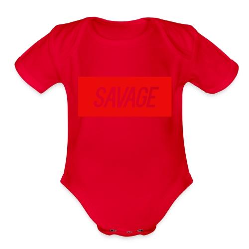 savage.pnggggggggggggg - Organic Short Sleeve Baby Bodysuit