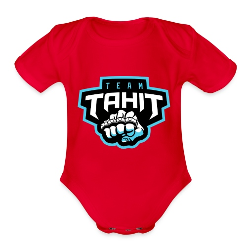 Team Tahit1 2 - Organic Short Sleeve Baby Bodysuit